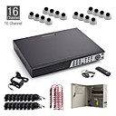 16 canali cctv kit 16pcs 20m + bianco dome + 1TB hdd libero