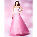 Ball Gown Sweetheart Floor-length Stretch Satin And Tulle Evening Dress