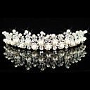  smukke legering med strig rhinestones / imiteret perle brude tiara