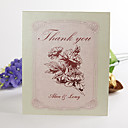 Folded Thank You Card - Pink peony(set of 50)