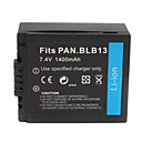 1400mAh Camera Battery BLB13 for PANASONIC G1,GH1,GH1K and More