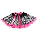 Zebra Print Tulle Girl Dress With Lining