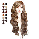 Capless Long Light Brown Soft Waves Hair Wig Multiple Colors Available