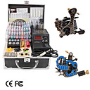2 Guns Tattoo Kit With LCD Power Supply and 40 Color Ink
