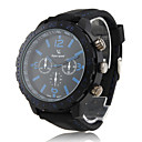 PC Movement Black Case Black Dial Black Silicone Band Wrist Watch
