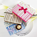 Colorful Stripe & Floral Print Gift Box With Ribbon Bow (Set of 12)