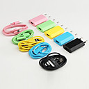 Colorful USB Charger + Cable for iPhone & iPod (Apple 30 pin, Assorted Color)