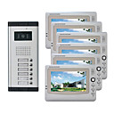 Infrared Video Door Phone System (6 LCD Screens, Easy Installation)