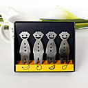 Stainless Steel Smiley Party Forks (Set of 4)