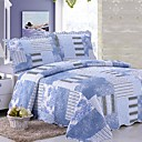 Blue Twin/Full-size 3-piece Quilt Set