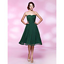 A-line Princess Strapless Sweetheart Knee-length Chiffon Cocktail Dress
