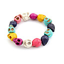 Original Hand-woven and  High Quality Pottery Skull Bracelet(Christmas Gifts)