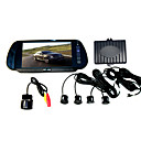 Car Reversing Set - 7 inch Rearview Mirror TFT LCD Monitor - Rearview Camera - Parking Sensors