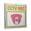 Solar Powered Flashing CCTV REC Warning Sign (88cm)