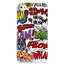 Protective Letters Pattern Hard Case for iPhone 4/4S