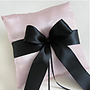 Pink Ring Pillow In Satin With Sash and Bow (More Colors)