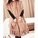 Genuine Rabbit Fur Shawl – Large