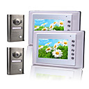 Two 7 Inch Color TFT LCD Intercom System (2 Alloy Weatherproof Cameras)