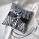 Zebra Print Ring Pillow With Black Sash
