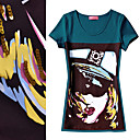 Hot Girl Beaded Short Sleeve T-shirt