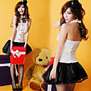 School Girl White And Black Polyester Costume (2 Pieces)