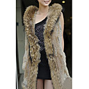 Genuine Rabbit/Raccoon Fur Vest