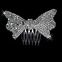 Alloy With Rhinestone And Pearl Elegant Bow Bridal Comb