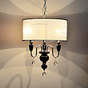 3-Light Pendant Light with Crystal Decoration
