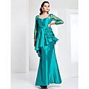 Trumpet/Mermaid Square Floor-length Taffeta Tulle Evening Dress