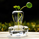 Mushroom Design Clear Glass Vase Centerpiece