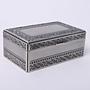 Personalized Vintage Tutania Rectangle Simple Design Jewelry Box