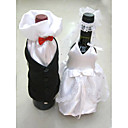 Mini Bride & Groom Cloth Wine Holder (Set of 2)