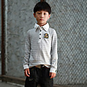 Boys Long Sleeve Double Collar Stripe T-shirt