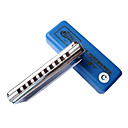 Huang - (102-c) Blues Harp Mundharmonika C key/10 holes/20 Tne / Messing Kamm