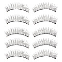 Natural Looking Black False Eyelashes (10 Pair)