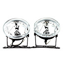 H3 55W Halogen Light Bulb 1000-LM 3000K Transparent Car Fog Lights (Transparent Lens, 1 Pair)