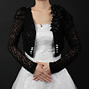 Lace Wedding Jackets With Appliques (More Colors Available)