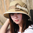 Statement Bowtie Lace Edged Straw Hat