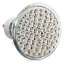 GU10 60-LED 300LM 2-2.5W 6000-6500K White Spot Bulbs (220-240V)