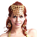 Dancewear Metal With Coins Performance Belly Dance Jewelry Outfits For Ladies