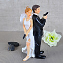 """Secret Agents"" Bride & Groom Wedding Cake Topper"