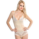 chinlon con jacquard botton busk chiusura shapewear bustier