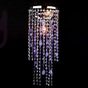 Crystal Drops Contemporary Pendant Lights Purple Decoration