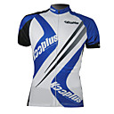 kooplus-hommes 100% polyester  manches courtes maillot cycliste (bleu et blanc)