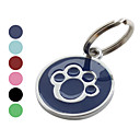 Mdaille Patte de Chien avec Nom du Chien - Couleurs Assorties