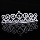 Gorgeous Magnificent Cubic Zirconia In Alloy Tiara