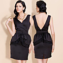 TS Trendy V-neck Backless Tulip Dress