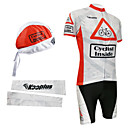 Cycling BIB Suits with Head Scarf and Arm Warmers(Red and White)