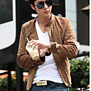 Man Fashion Solid Color Jacket Coat