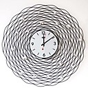 30&quot;Stylish Iron Wall Clock in Artistic Flower Design